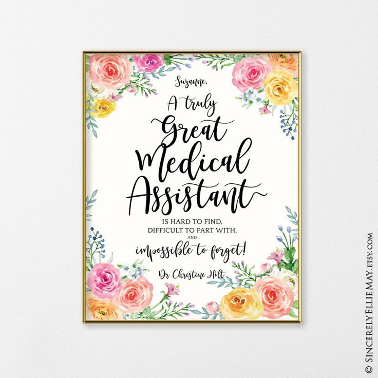 Medical assistant inspirational gifts for her
