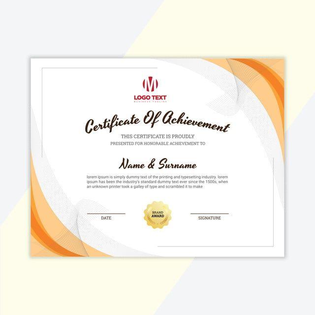 خلاصة شهادة مجردة الإنجاز العتيقة التقدير جائزة بياض الحدود شهادة خلفية الشهادة شكل الشهادة شه Certificate Of Appreciation Award Template Certificate Templates