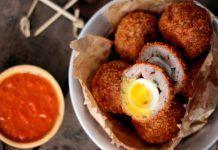 Receita de Ovos Escoceses Scotch Quail's Eggs