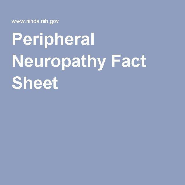 Peripheral Neuropathy Fact Sheet