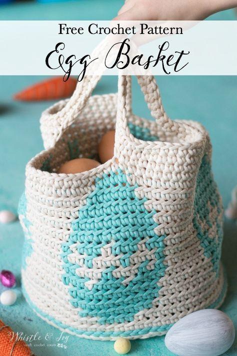 Crochet Easter Egg Basket Free Crochet Pattern Crochet