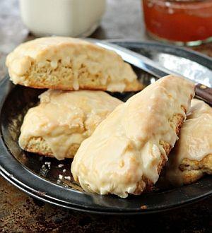 scones recipe - glazed orange