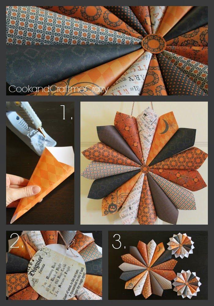 Cook And Craft Me Crazy Halloween Paper Wreath