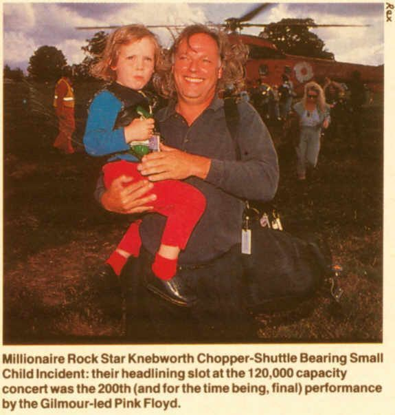 David Gilmour with...one of his children?