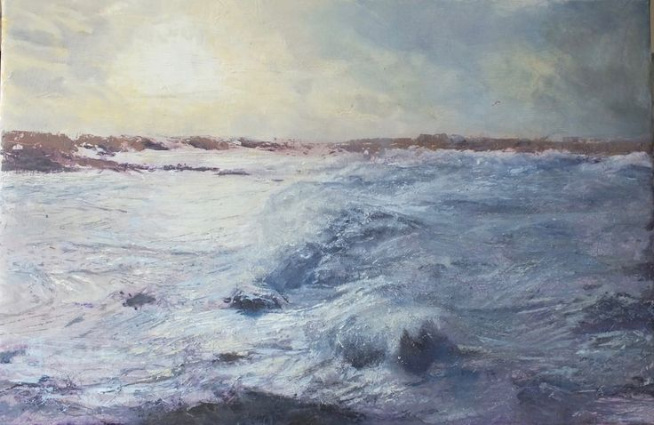 Breathtaking oil and mixed media by devon artist Julie Dunster.