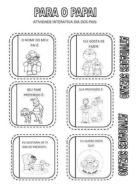 Dia dos pais atividade interativa - Atividades Adriana