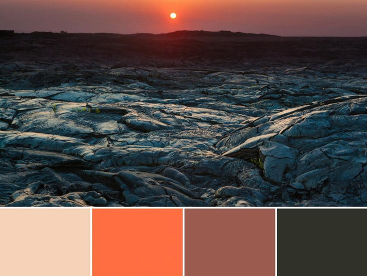 18 Color Palettes Inspired by National Parks: Hawaii Volcanoes National Park >> http://www.hgtv.com/design/decorating/color/national-park-color-palettes-pictures?soc=pinterest