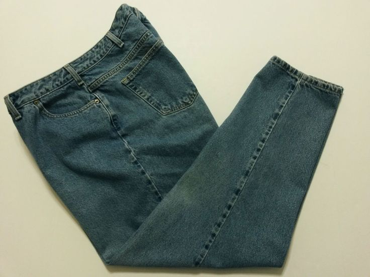 """Lands' End - Women's Denim Blue Jeans Size 18W/P with 29"""" Inseam Pants #LandsEnd #RelaxedFit ..... Visit all of our online locations ..... (www.stores.eBay.com/variety-on-a-budget) ..... (www.amazon.com/shops/Variety-on-a-Budget) ..... (www.etsy.com/shop/VarietyonaBudget) ..... (www.bonanza.com/booths/VarietyonaBudget ) .....(www.facebook.com/VarietyonaBudgetOnlineShopping)"""