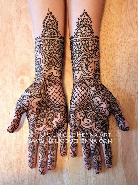 Zainab's Traditional Indian bridal henna 2013 © NJ's Unique Henna Art   Bridal…