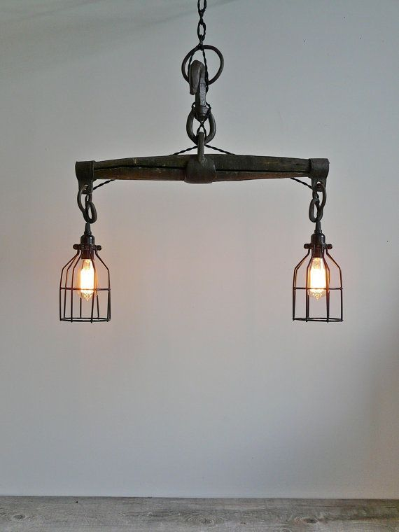 Farmhouse Industrial Light Antique Oxen Yoke Rustic by UrbanAnalog...I have this i will be doing this someday