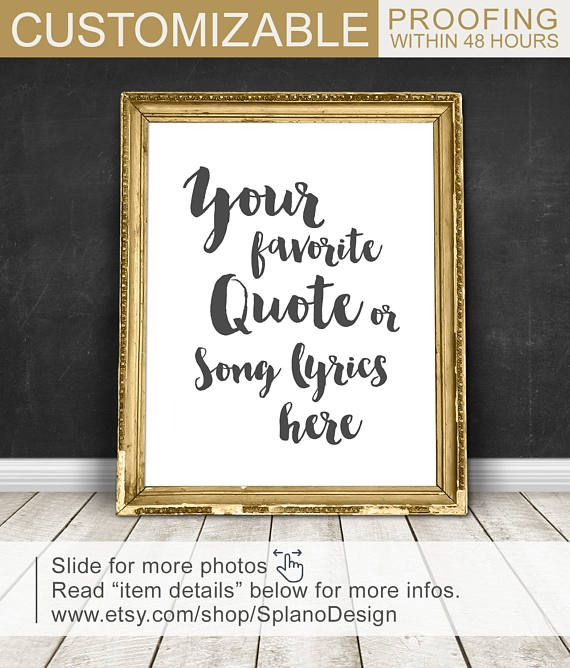 custom quote art, calligraphy wall art, Custom Typography, quote wall decor PRINT/CANVAS/DIGITAL, custom wedding song lyric art, custom text