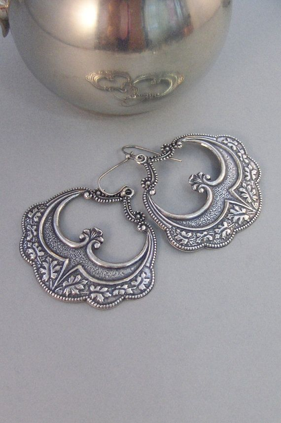Gypsy GirlEarringsSilver by ValleyGirlDesigns on Etsy