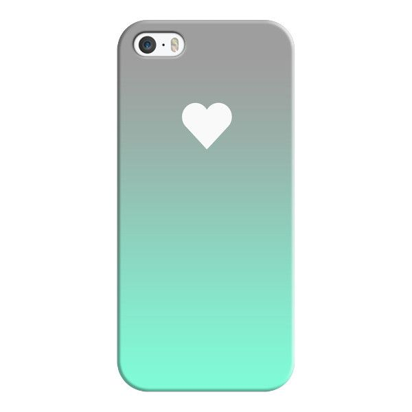 iPhone 6 Plus/6/5/5s/5c Case - Tiffany Fade Apple Heart (1,625 PHP) ❤ liked on Polyvore featuring accessories, tech accessories, iphone case, slim iphone case, apple iphone cases and iphone cover case
