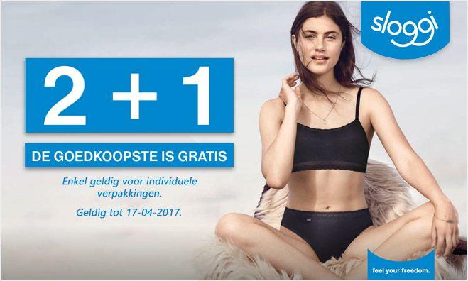SLOGGI 2+1 ACTIE!  Lentekriebels? Oud ondergoed eruit, nieuw erin? Sla je slag met de grote Sloggi 2+1 actie t/m 17 april; https://www.twyst.nl/sloggi  #sloggi #actie #underwear #ondergoed #onderbroek #slip #hipster #boxershort #string #tanga #boxershorts #voordeel #voordeelactie