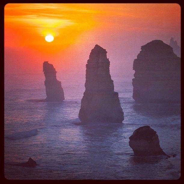 Twelve Apostles at sunset, Victoria, Australia