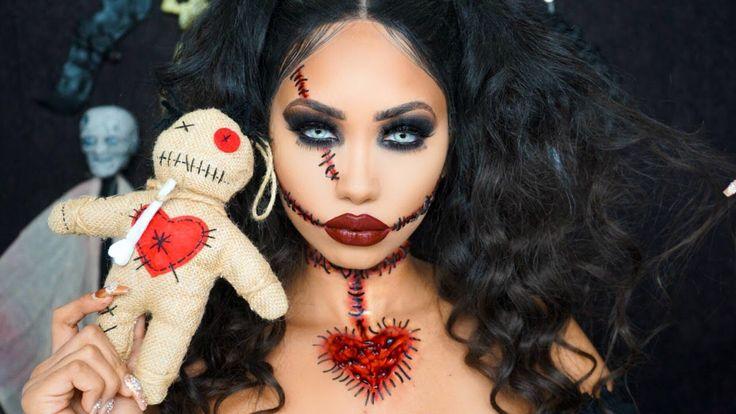 Voodoo Doll Halloween Makeup Tutorial Melly Sanchez