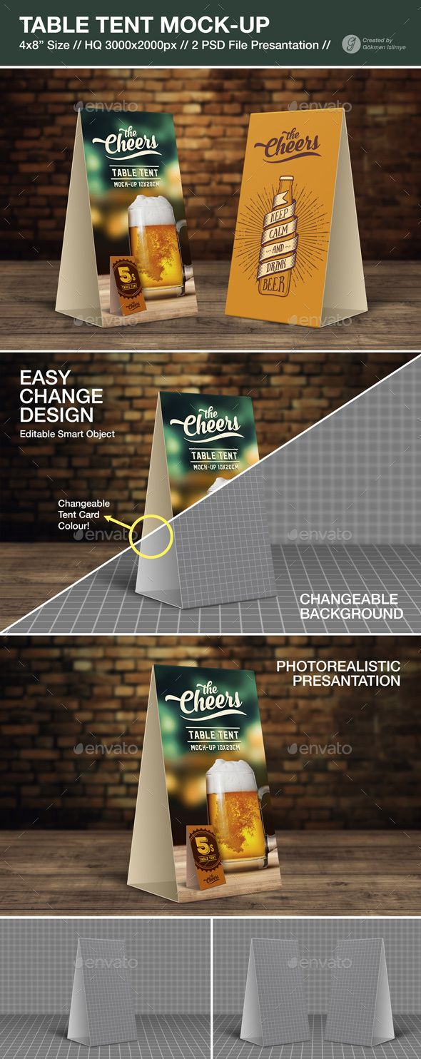 Table Tent MockUp — Photoshop PSD #mock up #corporate • Available here → https://graphicriver.net/item/table-tent-mockup/17721504?ref=pxcr