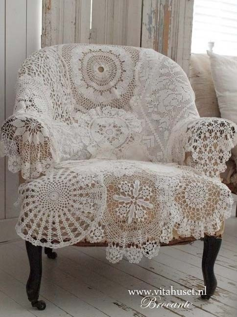 Lace Doily Chair Cover