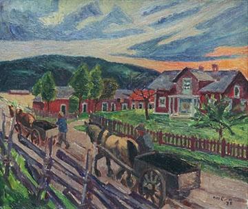 Marcus Collin (1882-1966): Kotiinpaluu, 1932 Finland