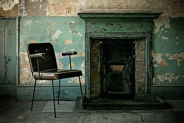 Sitting By The Fire by Cormac Scanlan #urbandecay #abandoned