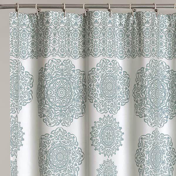 Lush Decor Stripe Medallion Shower Curtain In 2020 Medallion