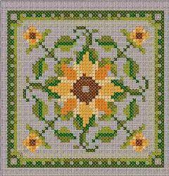 Châtelaine Designs - free sunflower chart