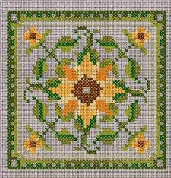 Châtelaine Designs - free sunflower chart