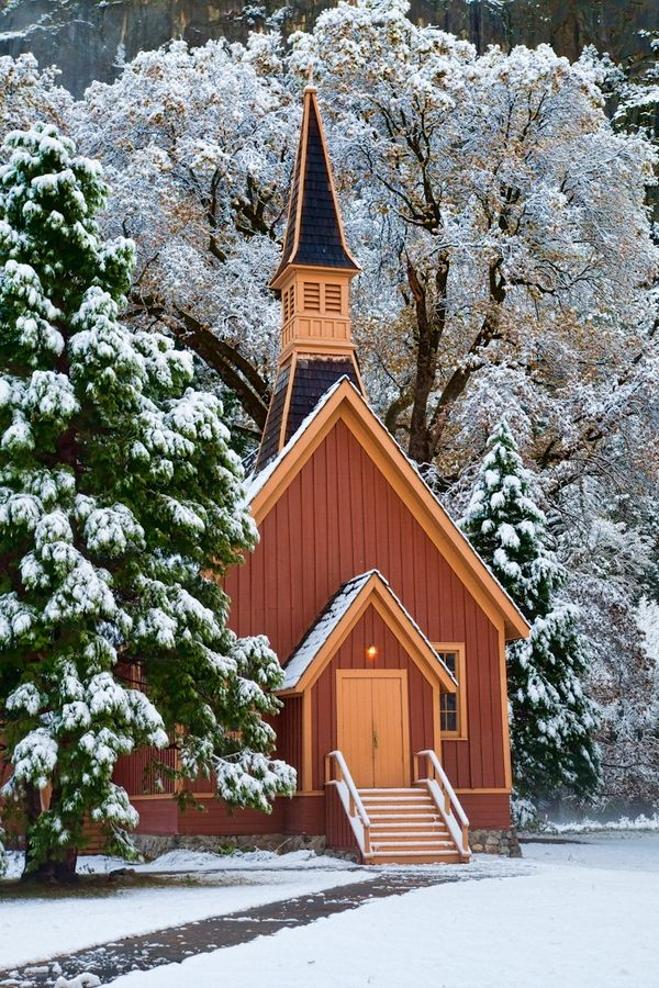 Yosemite Chapel is one of the places I went to sing at. For years I have gone to Yosemite but this was the first time I went in the winter and to the chapel. Wonderful Experience