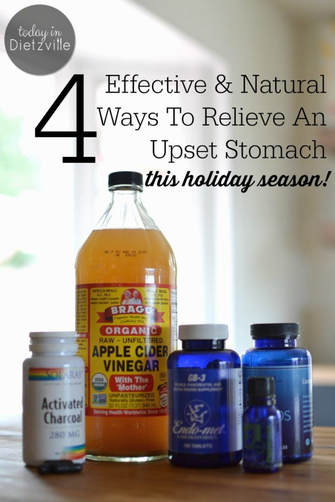 how to get rid of upset stomach and gas