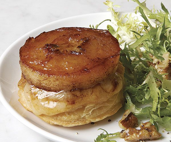 Upside-Down Apple-Cheddar Tarts with Frisée and Toasted Walnuts // Recipe: http://www.finecooking.com/recipes/upside-down-apple-cheddar-tarts.aspx?utm_source=social_medium=pinterest_term=no_offer_content=fcrecipe_campaign=fc_social