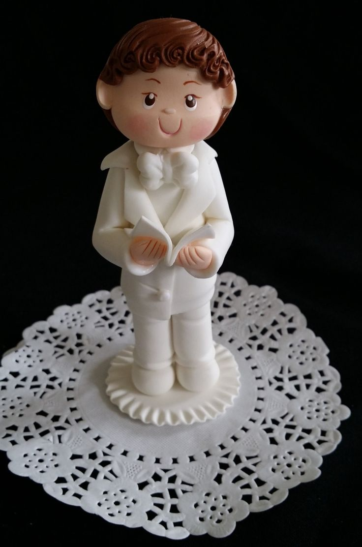 Boy or Girl First Communion Cake Topper, Twins First Communion Topper, Twins Baptism, Boy or Girl in Baptism Gown For Cake, Communion Child Dressed in White Gown
