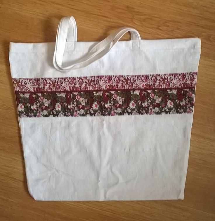 tote bag from old curtain