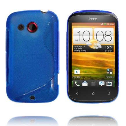 Transparent S-Line (Blå) HTC Desire C Deksel