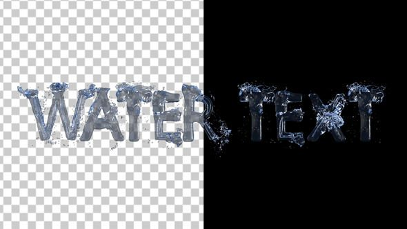 Text From Real Water