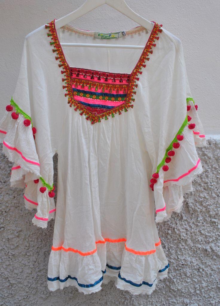 Kaftán Mariposa deco rosa fluor – Ibiza Trendy | Tienda online | Online store