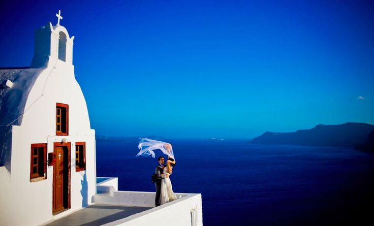 10 Best Destination Wedding Locations -- my favorite is Santorini, always wanted to get married there!