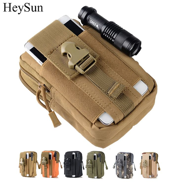 800D Nylon Military Tactical Pouch,Outdoor Molle Waist Belt Bag,5.7inch Universal Tactical Phone Pouch Mountain Outfit 6colors