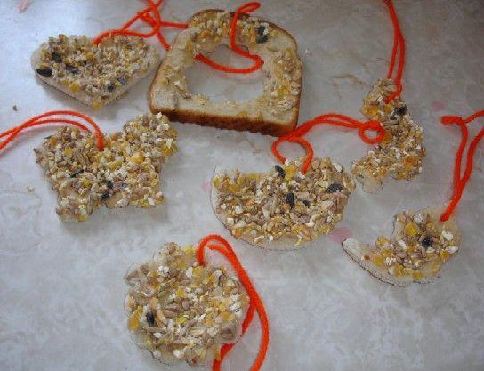 Bread Bird Seed Feeders