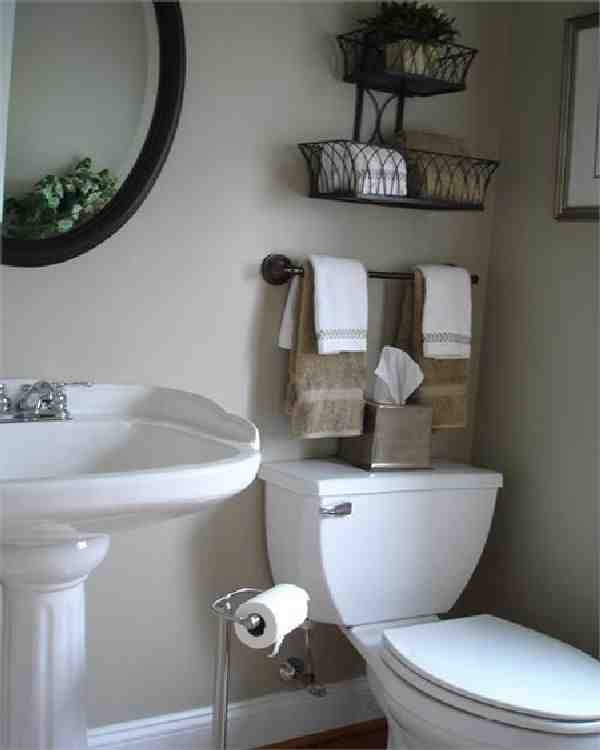 Small bathroom space saving ideas for above the toilet for Outhouse bathroom ideas