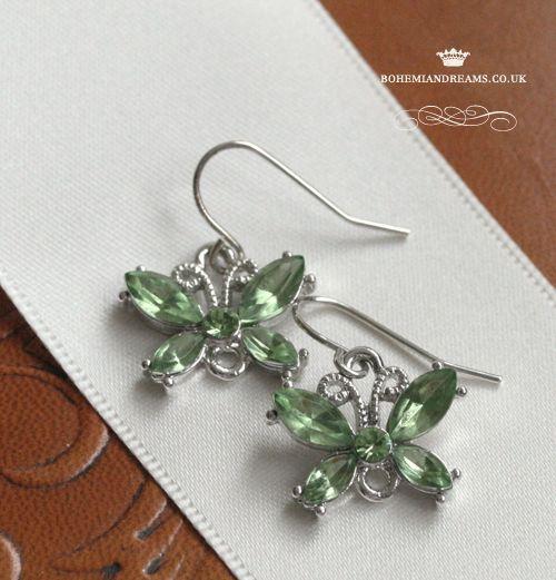 butterfly earrings www.bohemiandreams.co.uk
