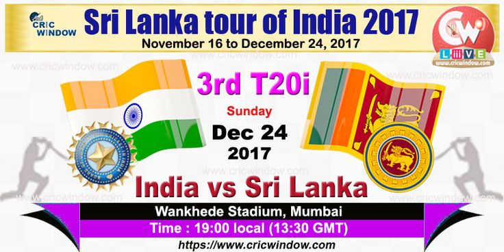 3rd t20i : India vs Sri Lanka Live from Wankhede, Mumbai