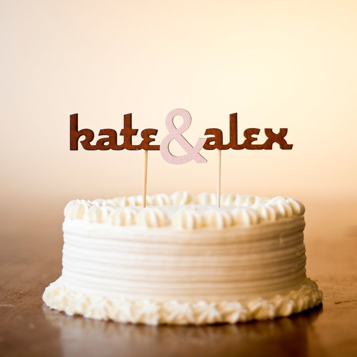 Love this wedding cake topper from betteroffwed