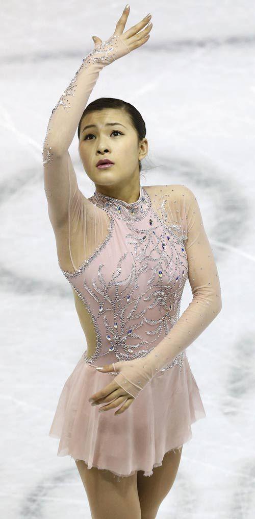 Kanako Murakami -Pink Figure Skating / Ice Skating dress inspiration for Sk8 Gr8 Designs.