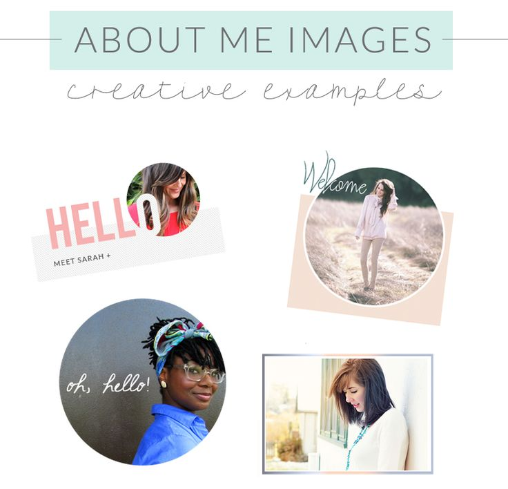 Cute About Me Images Examples. Here Are Some of My Favorite About Me Images From Various Blogs Found Around the Web. So Cute!