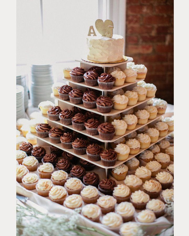 Cupcake Wedding Cakes ~  we ❤ this! moncheribridals.com