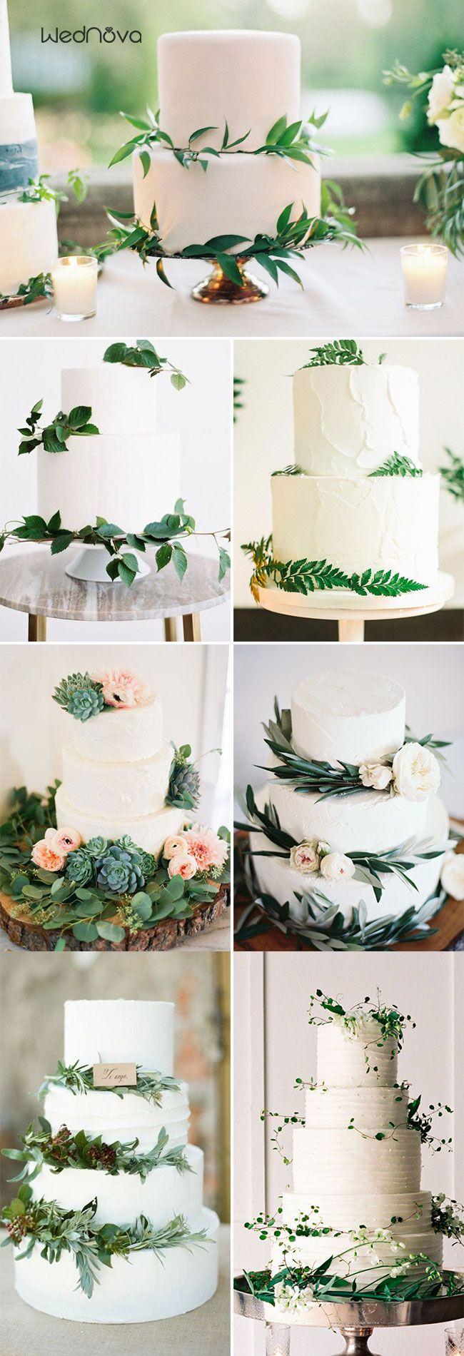 50 Greenery Wedding Ideas To Inspire Your Big Day Cool Wedding Cakes Wedding Cake Table Decorations Wedding Cake Greenery