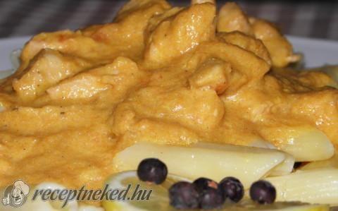 Csirkemell falatok vadasan recept fotóval