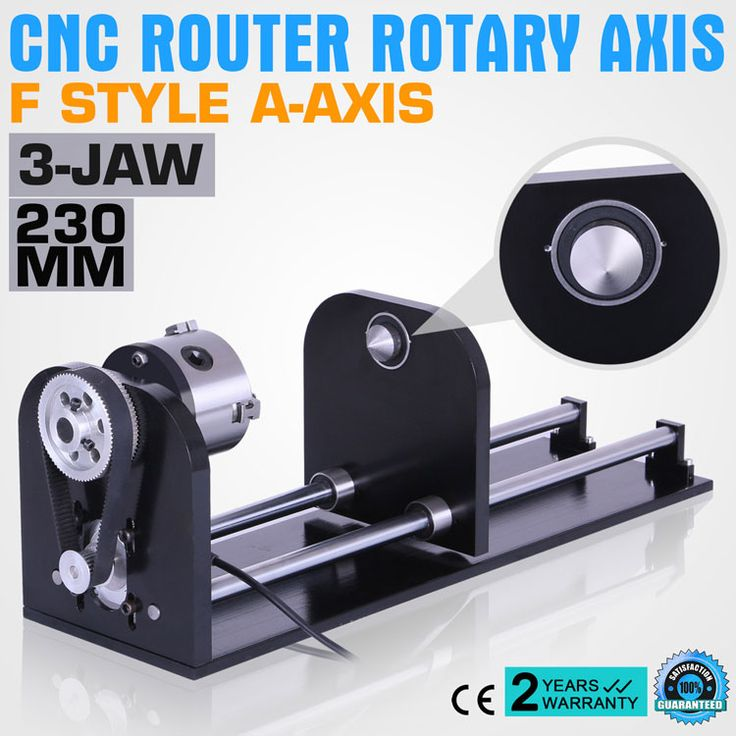 CNC ROUTER ACCESSORY F STYLE A-AXIS, ROTARY AXIS WITH 80MM 3-JAW 230MM TRACK for CO2 Laser Engraving machine