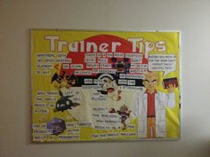 Resident assistant bulletin board on tips for college life with Pokemon theme. Bethany college, West Virginia. Via Jacob Fischer Junior RA 2013