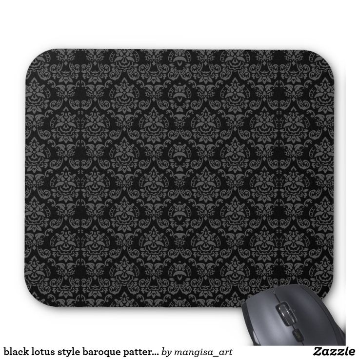 black lotus style baroque pattern mouse pad